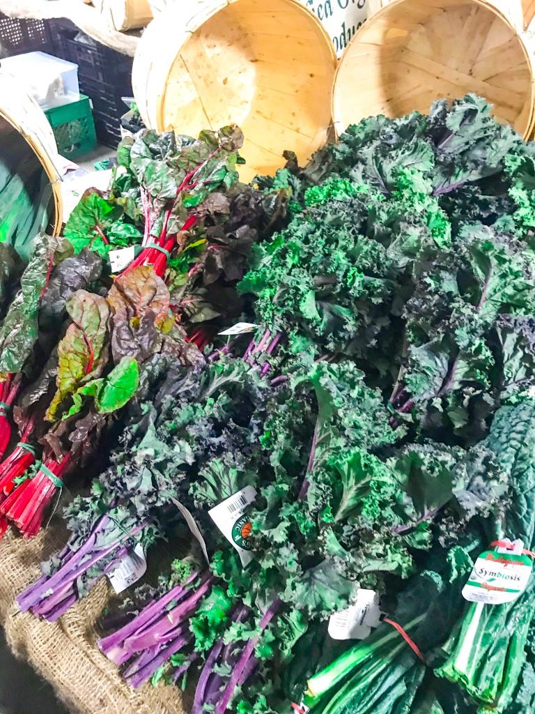 Biologische Lebensmittel: Hier Bio-Grünkohl auf einem Bauernmarkt.