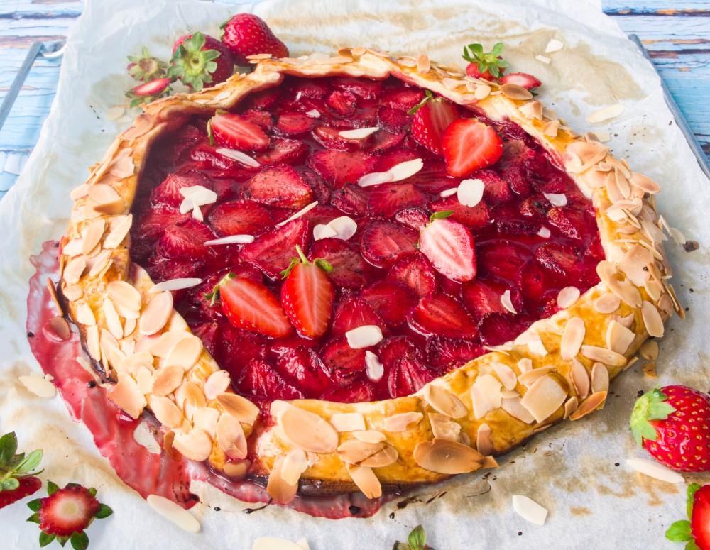 Erdbeer-Galette